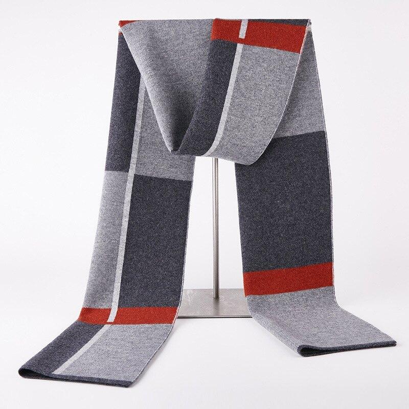 圍巾羊毛披肩-拼色格子針織休閒男配件3色73wh25【獨家進口】【米蘭精品】