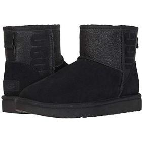 [アグ] レディースブーツ・靴 Classic Mini Sparkle Black (28.5cm) B - Medium [並行輸入品]