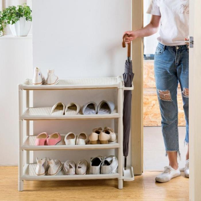 多層鞋架家用經濟型簡易鞋櫃塑料組裝鞋架子鞋子防塵收納櫃