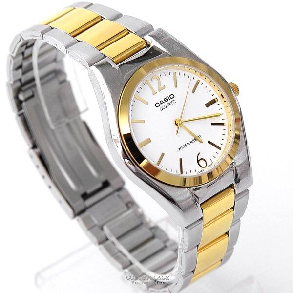 CASIO卡西歐 紳士品味金色不鏽鋼錶 經典大方 送禮首選 柒彩年代【NEC104】原廠公司貨