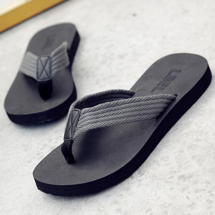 涼鞋 拖鞋男夏季防滑沙灘鞋時尚外穿個性涼鞋室外涼拖潮軟底夾腳人字拖 全館八八折