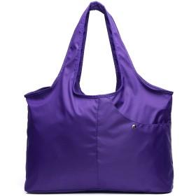 ママと子供のパッケージ多機能ショッピングバッグマルチポケット大容量軽量ファッションレディース防水ショルダーバッグ (パープル)
