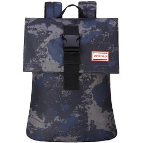 スリムトラベルラップトップバックパックカモフラージュファッションカレッジスクールバックパック (ブルー)