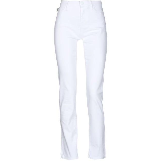 《セール開催中》LOVE MOSCHINO レディース パンツ ホワイト 25 コットン 98% / ポリウレタン 2%