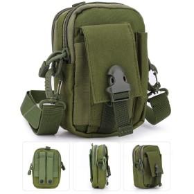戦術的なモールポーチバッグ、多目的ポリツールホルダー、スポーツハイキングキャンプ用携帯電話ホルスター付きユーティリティガジェットベルトウエストバッグ