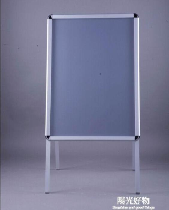 展示架鋁合金海報架摺疊立式落地廣告架子戶外防風廣告牌