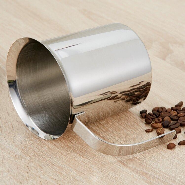 加厚雙層打奶泡器 牛奶打泡器手動打奶器花式咖啡杯奶泡壺奶泡機  WD 時尚潮流