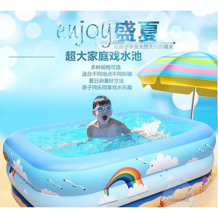 加厚兒童游泳池家用寶寶嬰幼兒家庭充氣泳池超大號小孩洗澡戲水桶 st3881