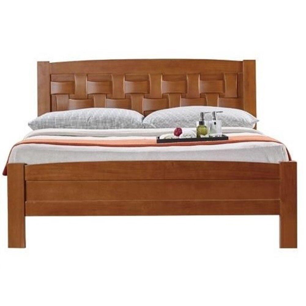 編織5尺柚木雙人床/H&D東稻家居-消費滿3千送點數10%