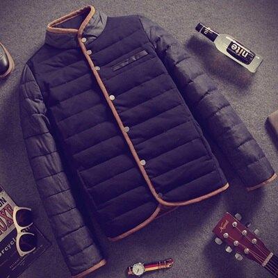 ☆羽絨外套 短款外套-日系時尚休閒立領男外套2色72aj31【獨家進口】【米蘭精品】