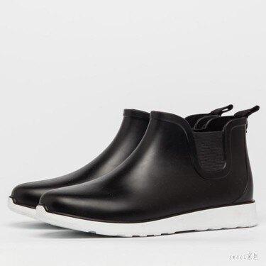 雨鞋 雨鞋男短筒秋冬男士低幫水靴時尚套鞋防滑膠鞋防水鞋戶外成人雨靴 LN4252【萬事屋】  聖誕節禮物