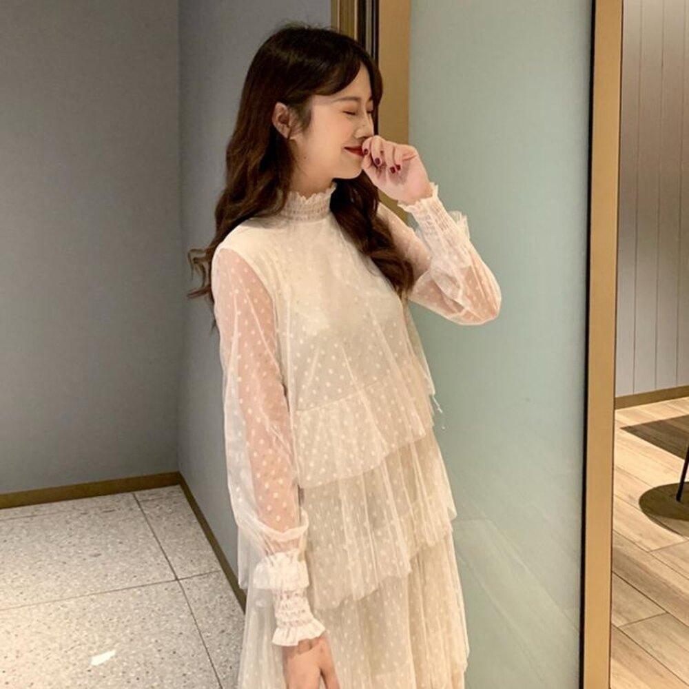 女裝很仙的法國小眾洋裝女韓版裙子大衣內搭裙 沸點奇跡 雙12購物節