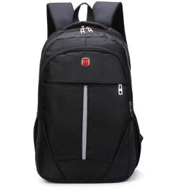 メンズバックパックの学生のコンピュータバッグ大容量アウトドアスポーツバッグの登山旅行,黒