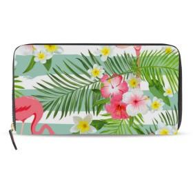 財布 ウォレット ジッパー財布 キーケース 小銭入れ ロングバッグ コインケース スマートコインケース ガマ口財布 収納袋 ハワイ フラミンゴ 大容量 耐久性 ユニセックス 持ち運びが簡単 ファッション パーソナライズ
