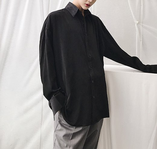 FINDSENSE H1 2018 秋季 新款 男女可穿 日本 鏤空 小心機顯瘦襯衫 氣質長袖襯衫 休閒 潮上衣