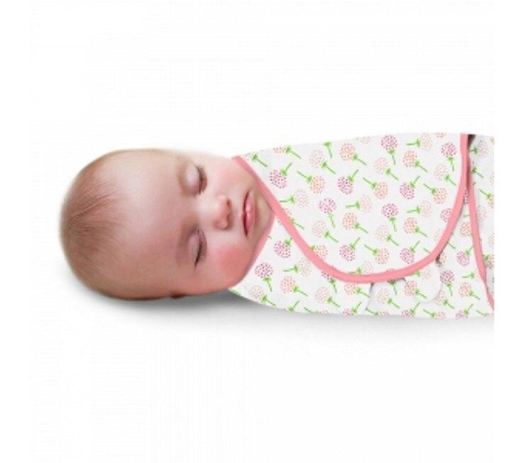 Summer Infant SwaddleMe懶人包巾0~3m S號 粉漫花朵