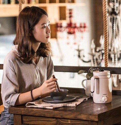 迷你鍋 養生杯陶瓷電燉杯加熱水杯辦公室宿舍煮粥杯     伊卡萊生活館  聖誕節禮物