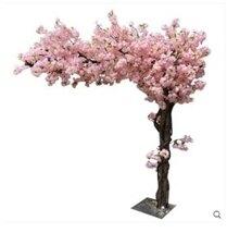 裝飾盆栽 仿真櫻花樹許愿樹婚慶裝飾樹假櫻花樹大型酒店商場裝飾桃花 母親節禮物