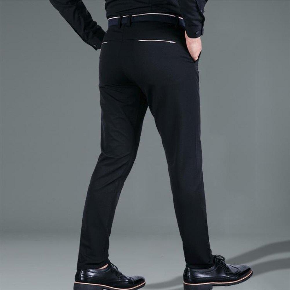 大尺碼西褲加肥加大碼商務休閒褲男胖子褲子青年正裝西褲彈力直筒修身