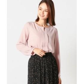 (MEW'S REFINED CLOTHES/ミューズ リファインド クローズ)Vネックタックカバーリング/レディース ピンク