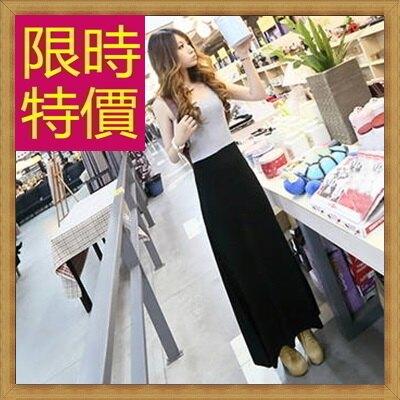 ★洋裝 無袖連身裙-休閒顯瘦縮腰連衣女裙子1色61a37【韓國進口】【米蘭精品】