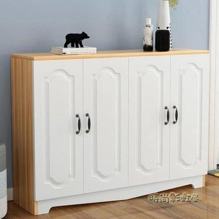 鞋櫃簡約現代門廳櫃木質多層玄關櫃歐式組裝儲物櫃家用大容量鞋櫃MBS 清涼一夏钜惠