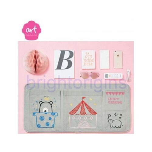 Baby muffin ART Muffin Beside Pocket 床邊收納袋(灰色)★衛立兒生活館★