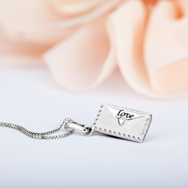 情侶【給她的承諾】銀吊墜 贈銀鏈免費刻字YSP00075