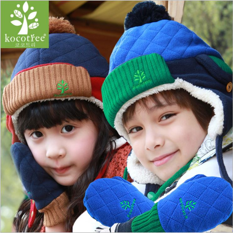 WallFree窩自在★正韓秋冬必備時尚簡約菱格設計簡約質感刺繡兒童保暖手套