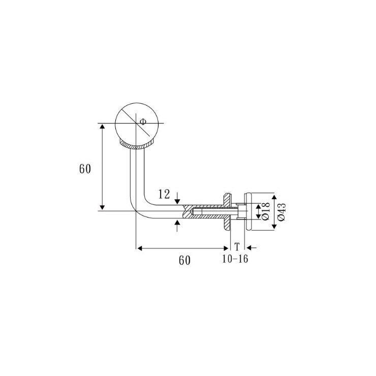 BL-A11-1 304材質 玻璃扶手彎座 (S60mm X H60mm)固定式弧形托架 玻璃夾 五金 亮面