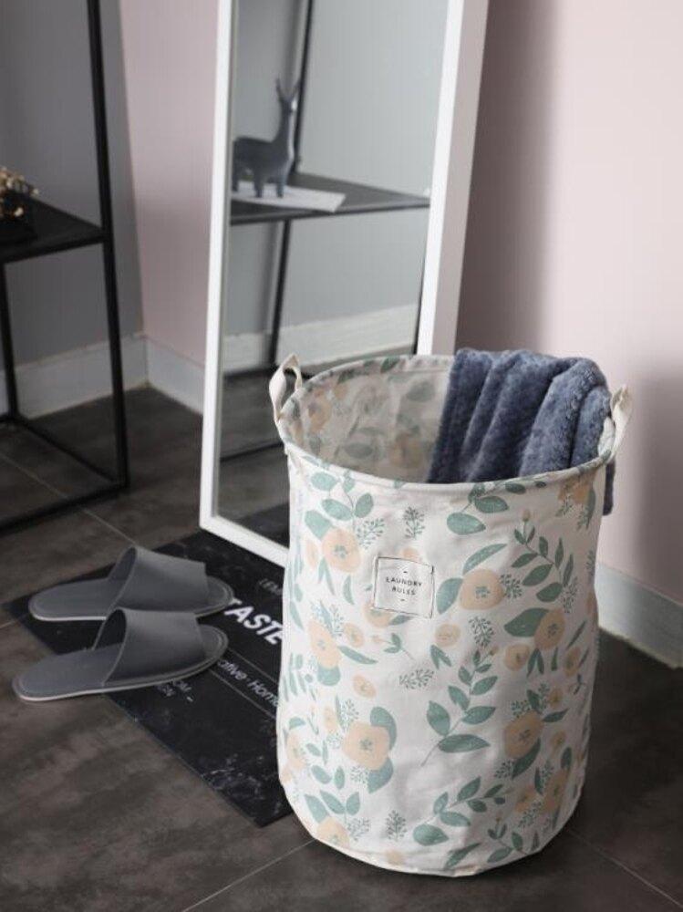 布藝簡約臟衣籃家用臟衣服贓婁收納收衣藍筐簍子裝放的摟洗衣籃子ATF 三角衣櫃