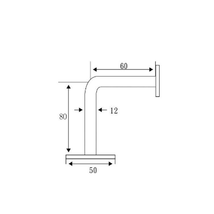 BL-A06 304材質 扶手彎座 (S60mm X H80mm)活動式托架平 玻璃夾 五金 毛絲