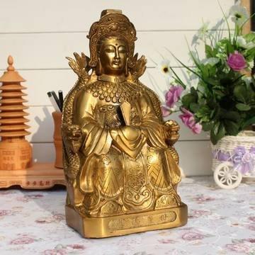 開光泰山聖母泰山老奶奶神像擺件 有求必應心想事成