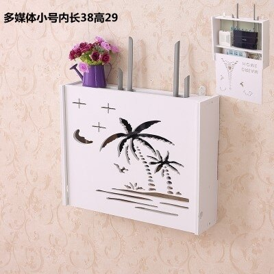 wifi機掛架  新款壁掛墻壁裝飾免打孔wife掛架客廳wifi貓多媒體機頂盒置物