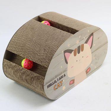 貓抓板瓦楞紙貓窩貓爪板貓沙發貓貓玩具磨牙大中小貓咪玩具   萬事屋  聖誕節禮物