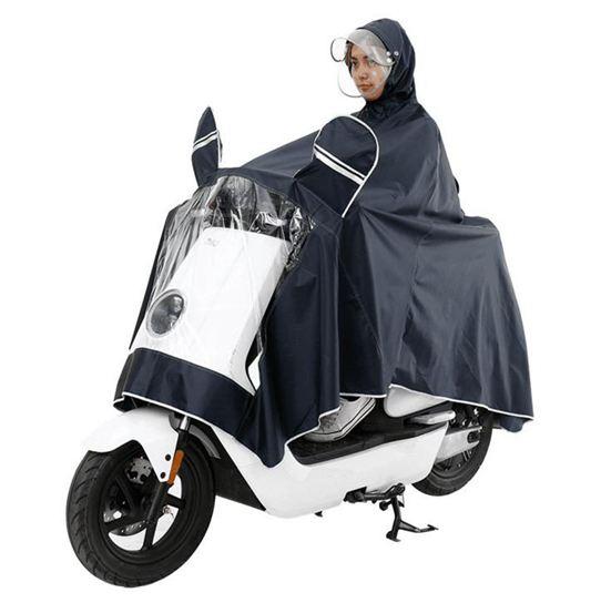 適用于小牛N1s/M1/U1電動車雨衣防水加大加厚雙帽檐雨披