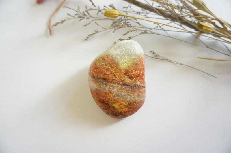 秋季之美石頭畫