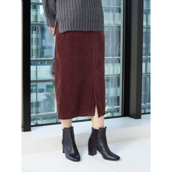 【6,000円(税込)以上のお買物で全国送料無料。】コーデュロイロングタイトスカート