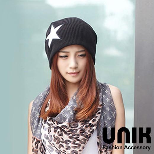 【現貨】UNIK 運動休閒星星針織帽(酷黑)