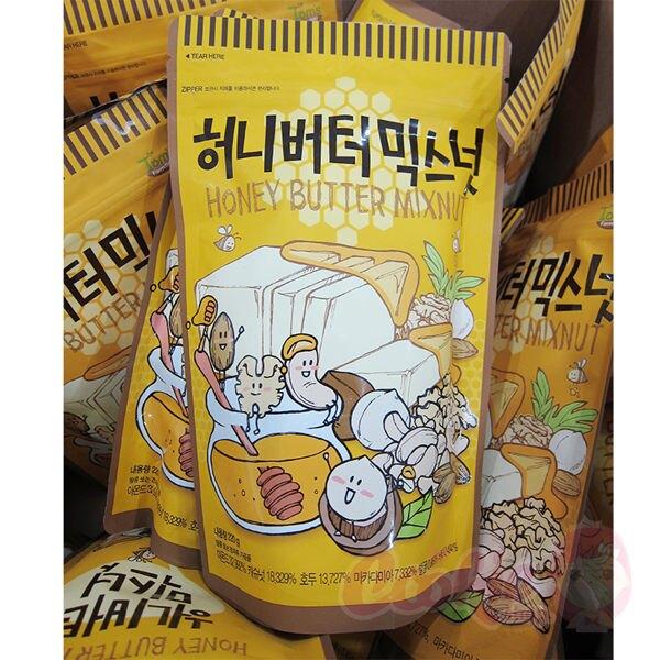 Toms Gilim 韓國 蜂蜜奶油綜合堅果 220g 杏仁果 堅果 核桃 腰果 進口零食【庫奇小舖】