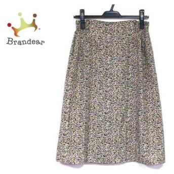 ニジュウサンク スカート サイズ38 M レディース 美品 ダークネイビー×グリーン×マルチ 花柄   スペシャル特価 20200205