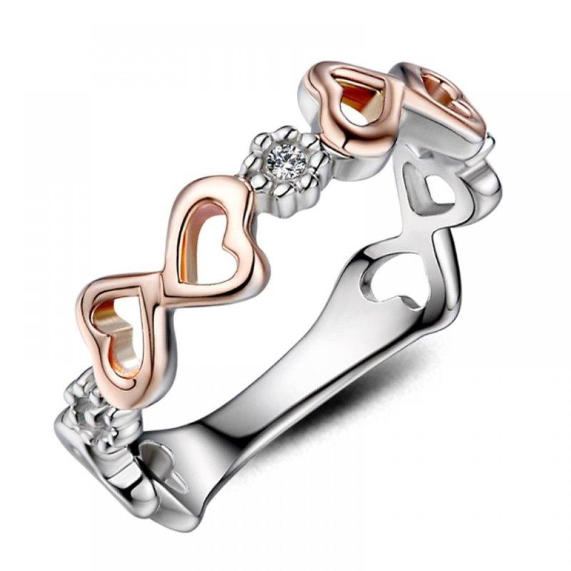 精靈之吻  鑽石14K金白鋼 女用戒指 尾戒推薦(戒圍加大不加價)