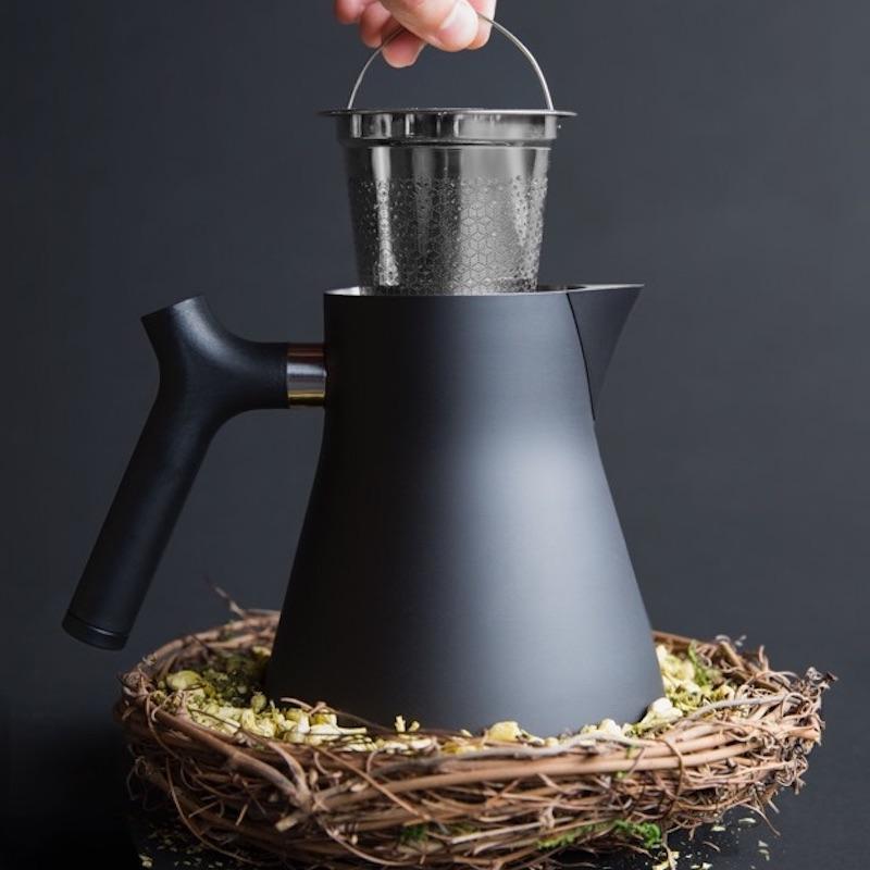 RAVEN不鏽鋼測溫沖茶壺 (黑)