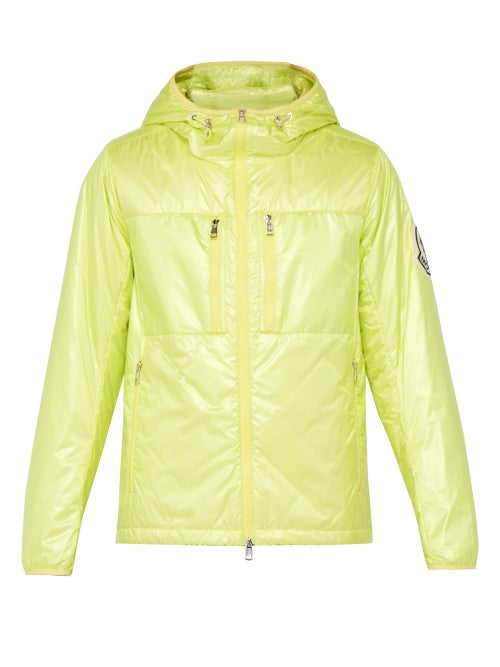 2 Moncler 1952 - Logo-appliqué Hooded Quilted Down Jacket - Mens - Yellow