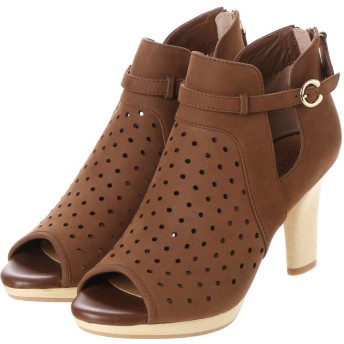 アンタイトル シューズ UNTITLED shoes レーザーカットグラディエーター UT8813 (ダークブラウンヌバック)