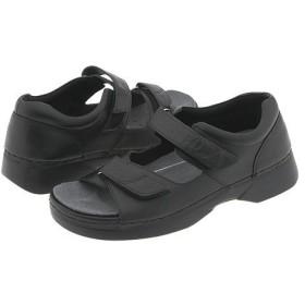 [プロペット] レディースサンダル・靴 Pedic Walker Black (25.5cm) X (2E) [並行輸入品]