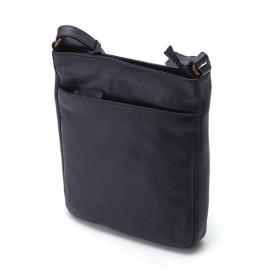 本革製ショルダーバッグ レザーショルダーバッグ B5 斜め掛け 縦型 旅行 ビジネス 休日 本革ベルト メンズ 紳士鞄 ネイビー 紺色 ギフト プレゼント