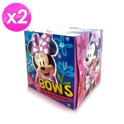 美國進口Disney Minnie盒裝面紙(雙層74抽)二入組