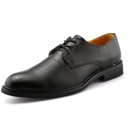 [GERUIQI] カジュアル滑り止め耐摩耗性フラットクラシックテクスチャフォーマルシューズメンズビジネスオックスフォード 快適な男性のために設計 (Color : ブラック, サイズ : 24 CM)