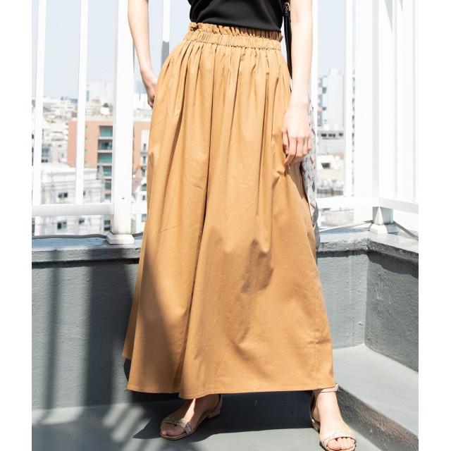 パンツ・ズボン全般 - ViS 【WEB限定】綿麻ワイドパンツ